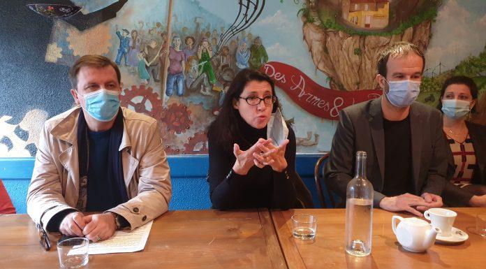 Conférence de presse de la France insoumise régionales Occitanie