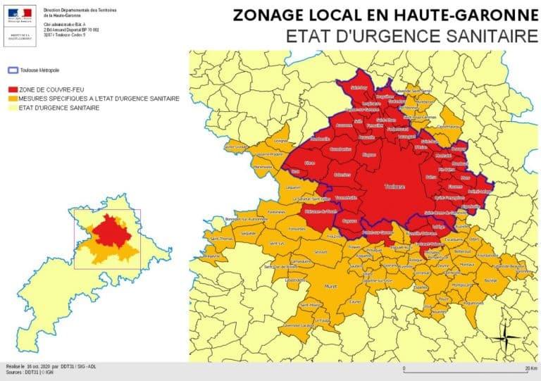 Couvre-feu : Voici les communes concernées en Haute-Garonne