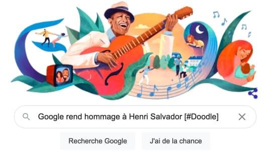 Un Toulousain dessine Henri Salvador pour la page d'accueil Google