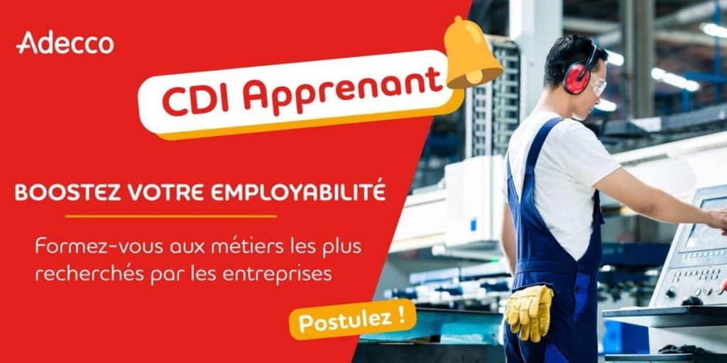 CDI apprenant intérimaire emploi Occitanie