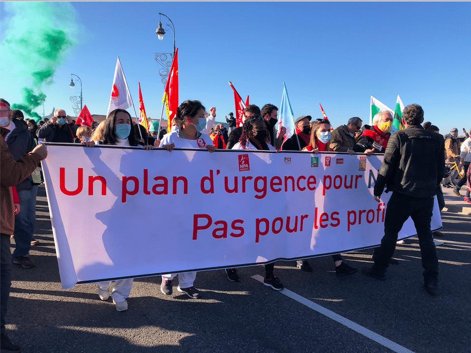 Manifestation à Saint-Cyprien