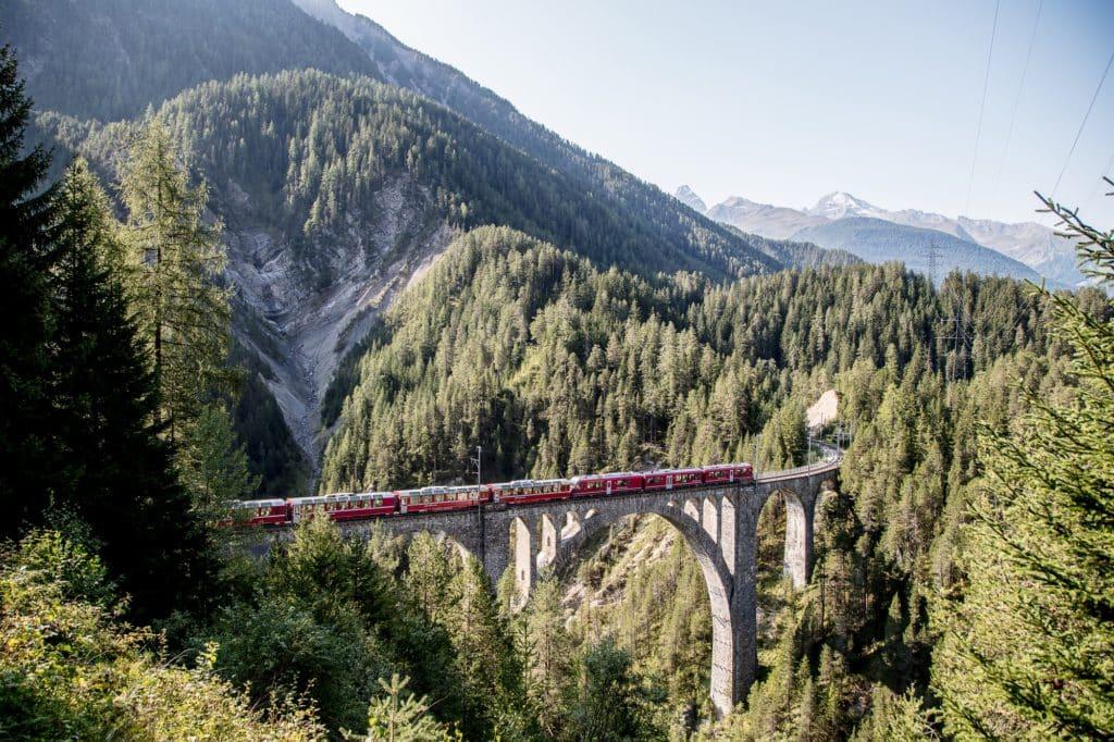 Rhaetische Bahn: Bernina Express - Davos