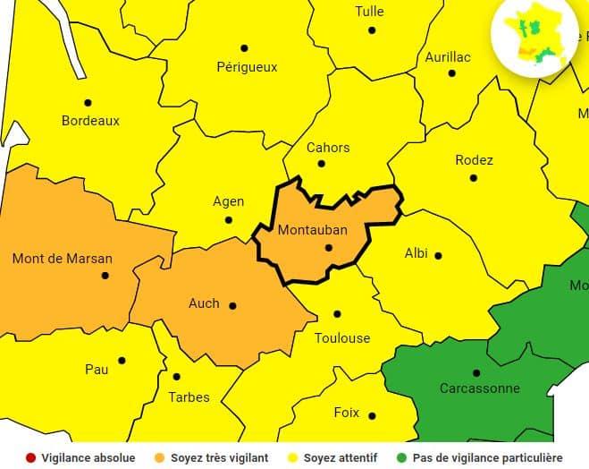 arerte meteo tempête bella Tarn-et-Garonne