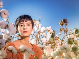 Femme dans un champ de coton