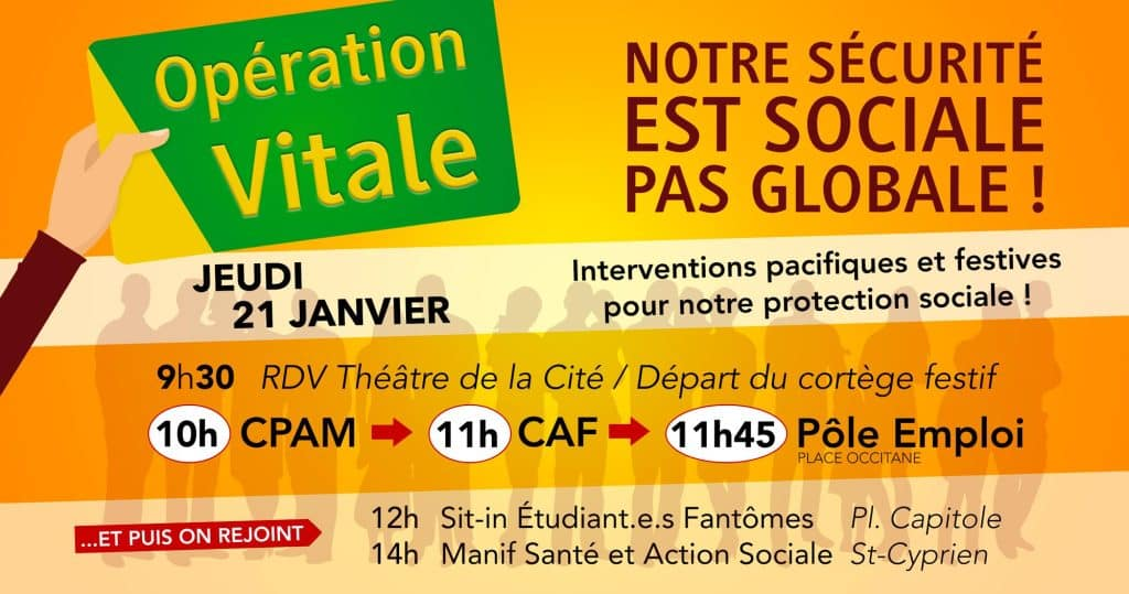 opération sécurité sociale Toulouse