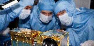 La SuperCam du Rover Perseverance, lors d'un test à l'Institut de recherche en astrophysique et planétologie de Toulouse, en 2018 © CNES TRONQUART Nicolas