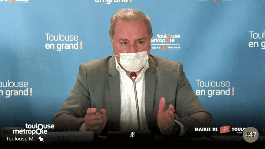 Le maire de Toulouse Jean-Luc Moudenc redoute les conséquence d'un couvre-feu à 18 heures ©PS