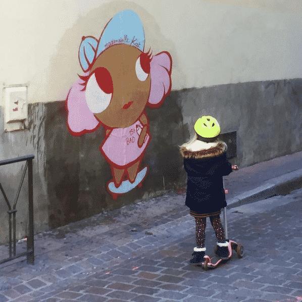 Une nouvelle babydoll signée Mademoiselle Kat dans le centre-ville de Toulouse ©MademoiselleKat