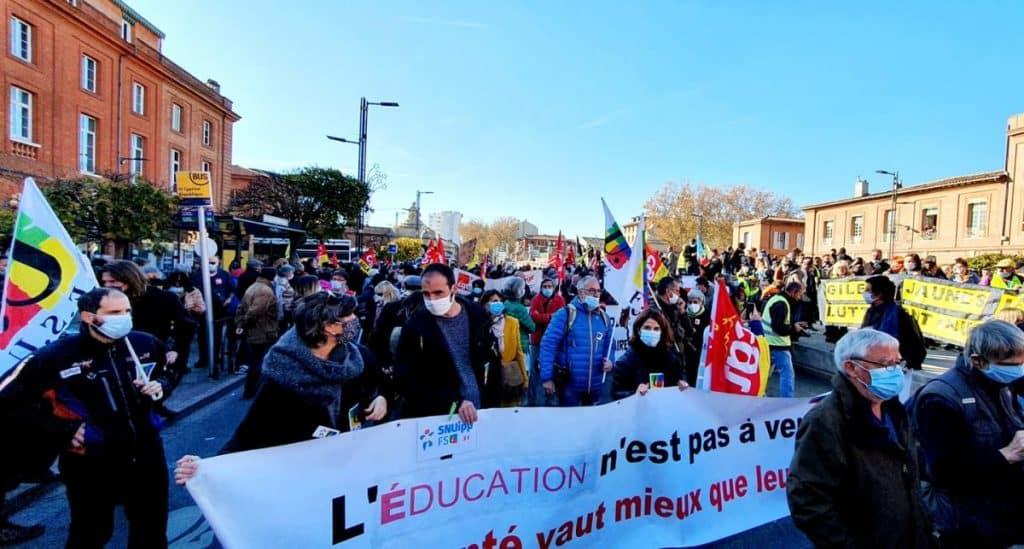 manifestation enseignants