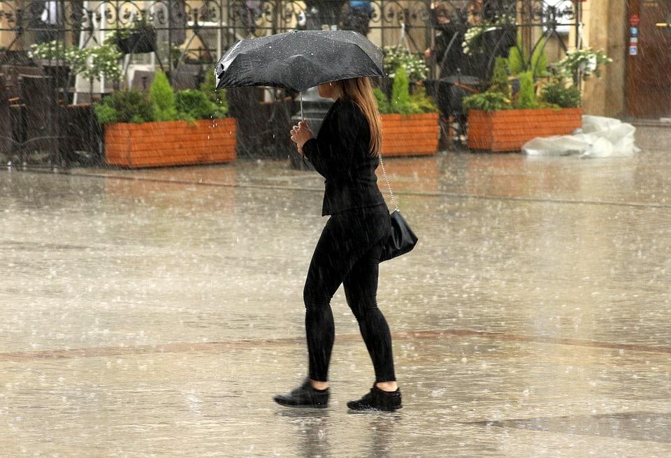 pluie vent parapluie météo samedi Toulouse