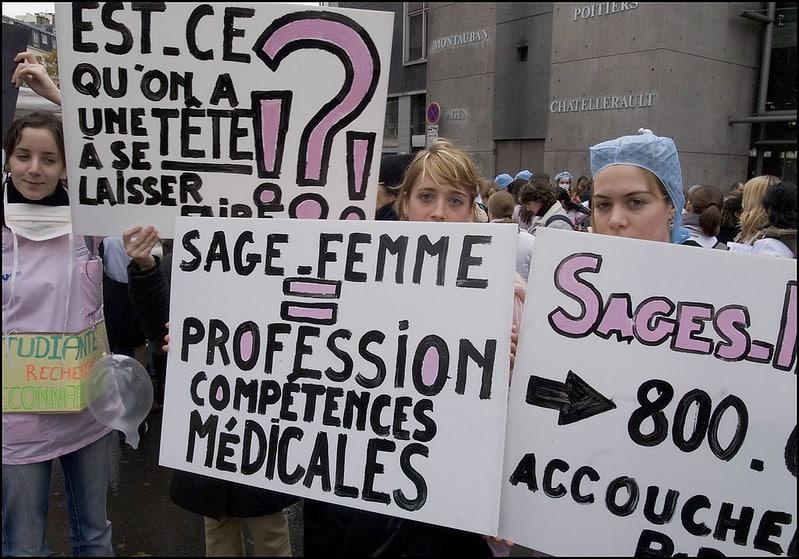 grève sages-femmes Toulouse
