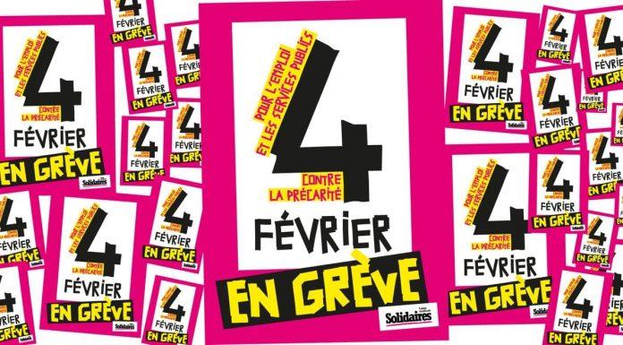 Les syndicats CGT Solidaire et FSU appellent à une grève et une manifestation aujourd'hui à Toulouse ©Solidaires