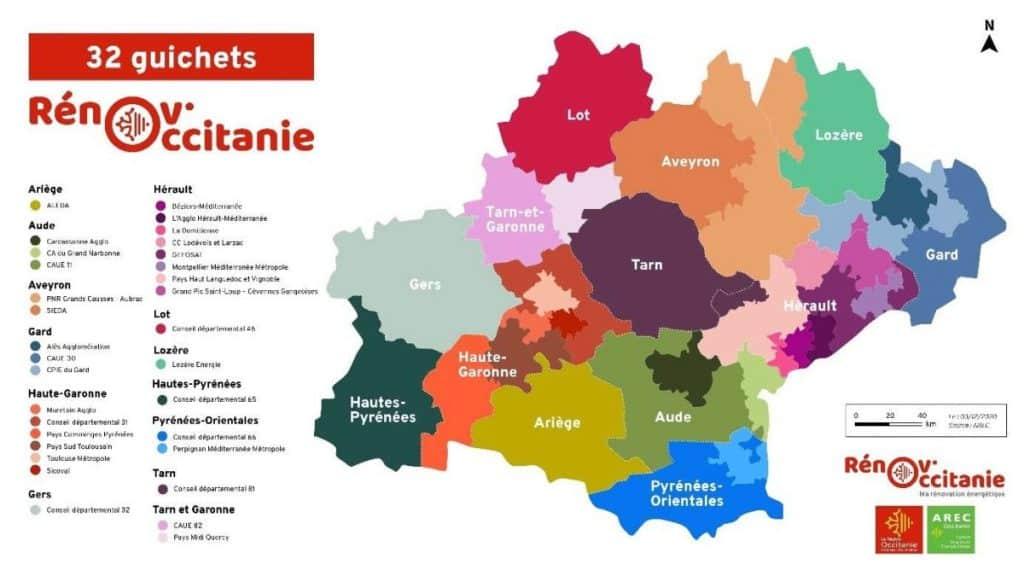 Rénov'Occitanie rénovation énergétique guichets uniques