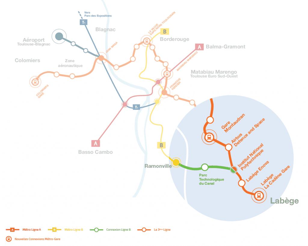 Connexion Ligne B - Carte