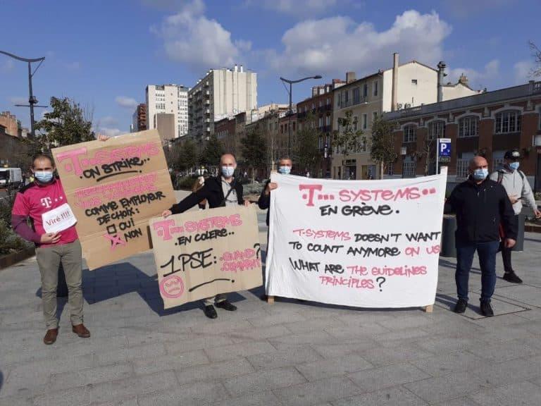 Aéronautique : T-Systems veut fermer son site de Toulouse, les salariés manifestent