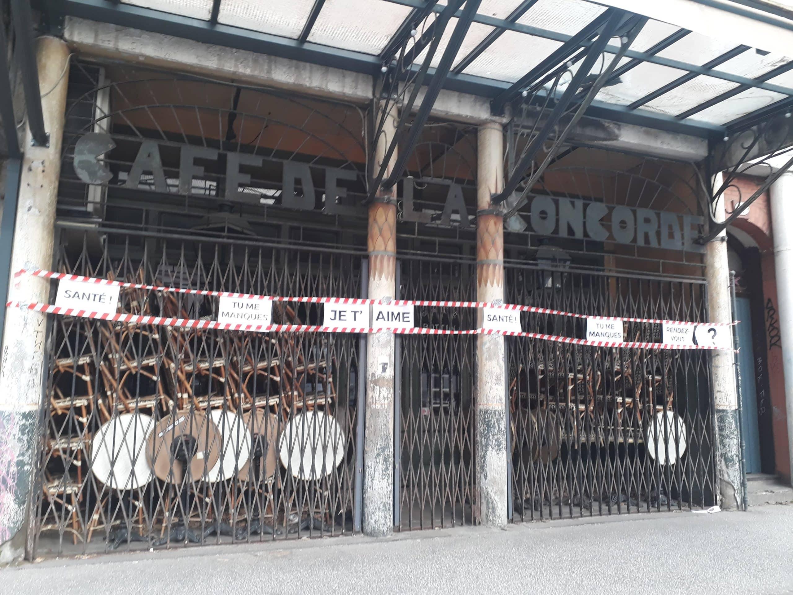 Café Concorde devanture rubalise toulouse