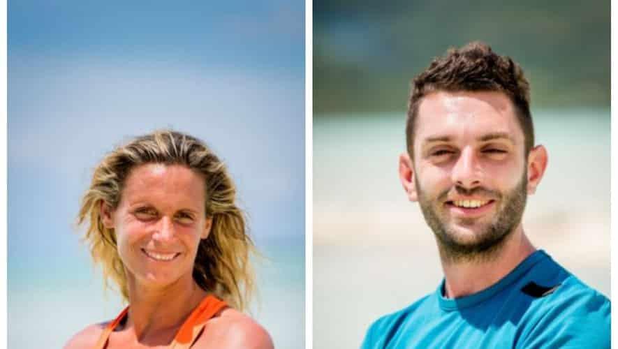 "Magali et Jonathan, les deux candidats d'Occitanie dans ""Koh-Lanta"". Photos A.Issock/ALP/TF1"