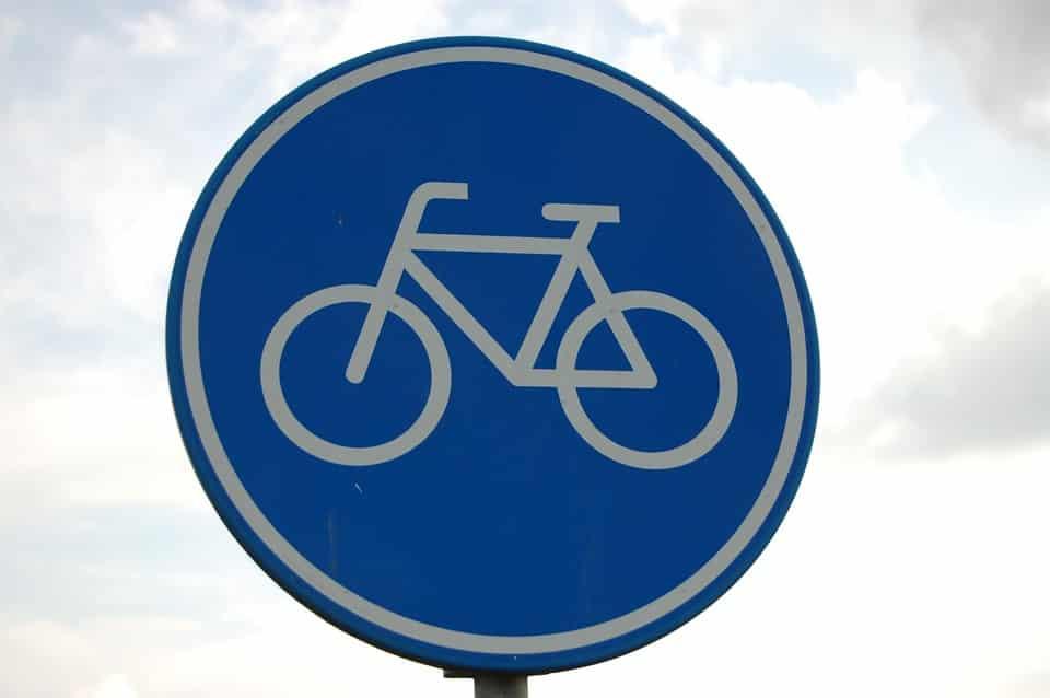 panneau piste cyclable velo mobilité métropole