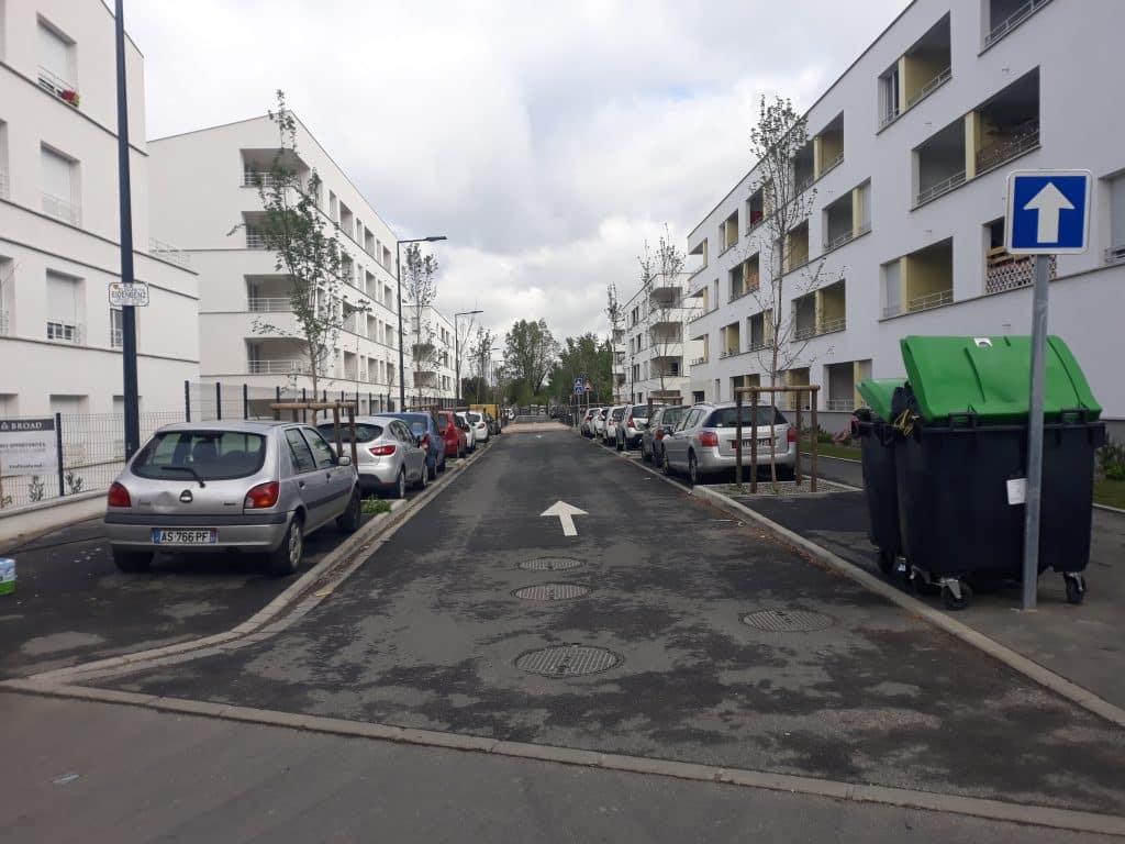La rue Elisabeth Eidenbenz à Paléficat
