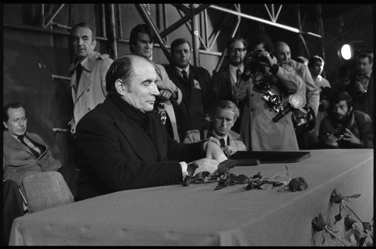 François Mitterrand lors de la campagne présidentielle de 1974