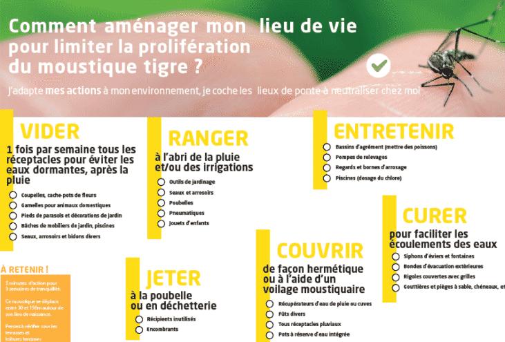 Les conseils de l'ARS pour lutter contre la prolifération des moustiques tigres. ©Agence Régionale de Santé