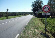 Aveyron routes de nouveau limités à 90 km/h