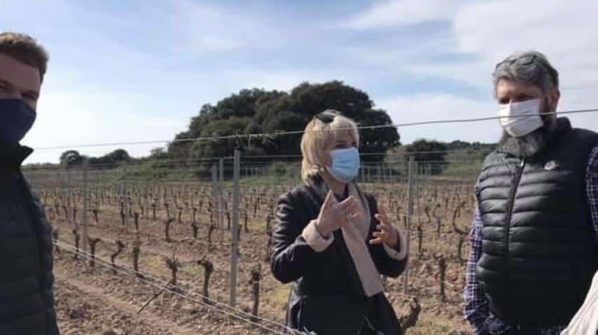 Hélène Sandragné, présidente du département de l'Aude, annonce une aide d'1,2 millions d'euros pour les agriculteurs victimes du gel © Département de l'Aude