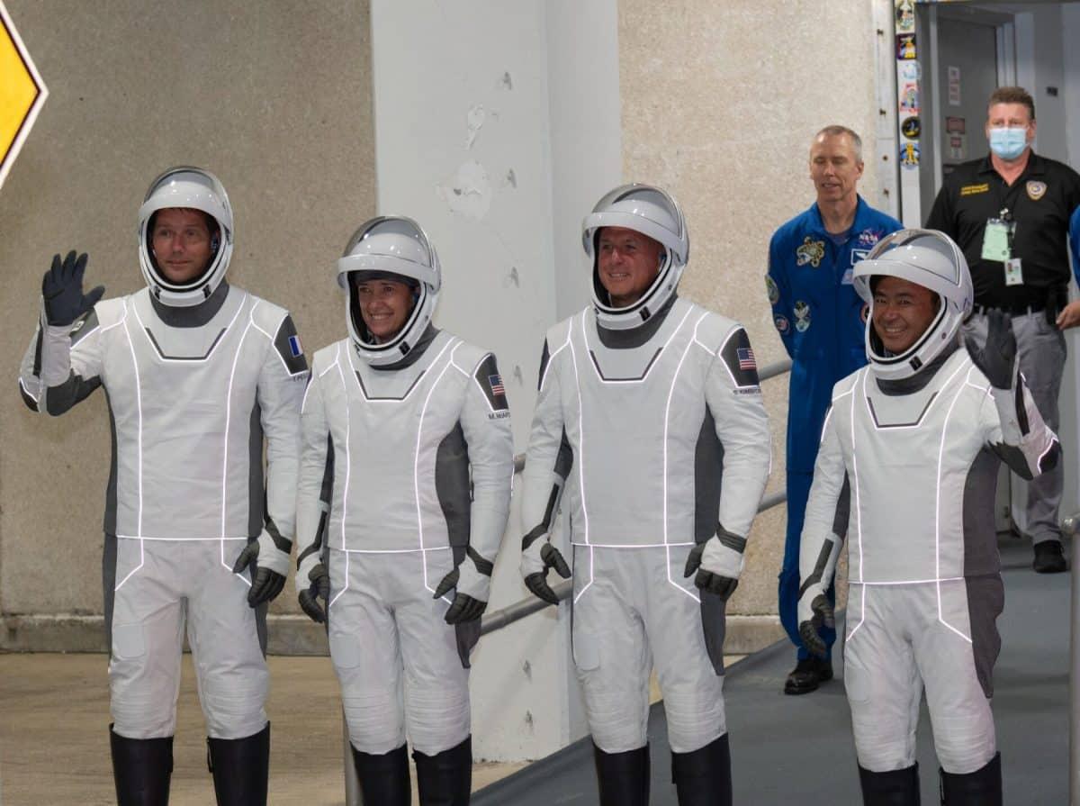 Thomas Pesquet décollage mission alpha SpaceX crew
