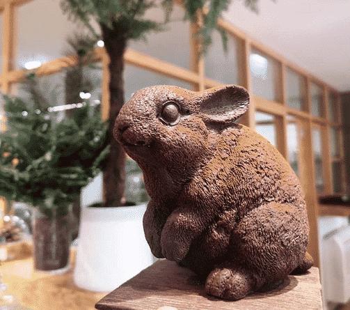 Voici Paul, le délicieux lapin de Garennes en chocolat des Cacaofages ©Cacaofages