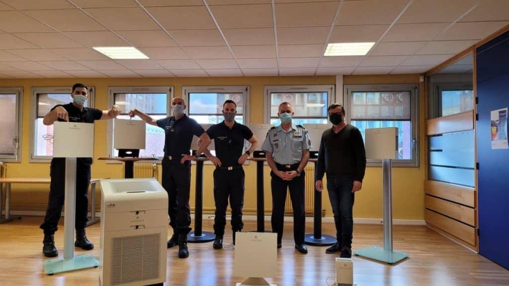 À Toulouse, la société Azelies lance une gamme de purificateurs d'air destinés à limiter la propagation de la Covid-19 dans les lieux publics @Azelies