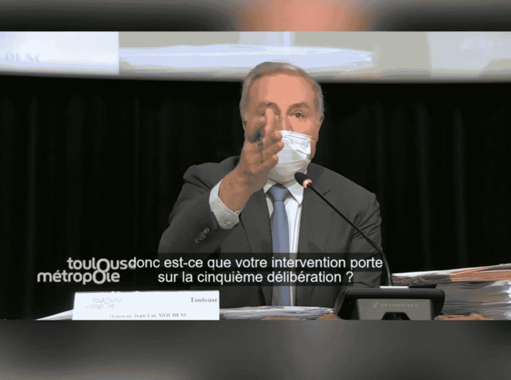 Quand Jean-Luc Moudenc sort de ses gonds au Conseil de Toulouse Métropole @ToulouseMétropole