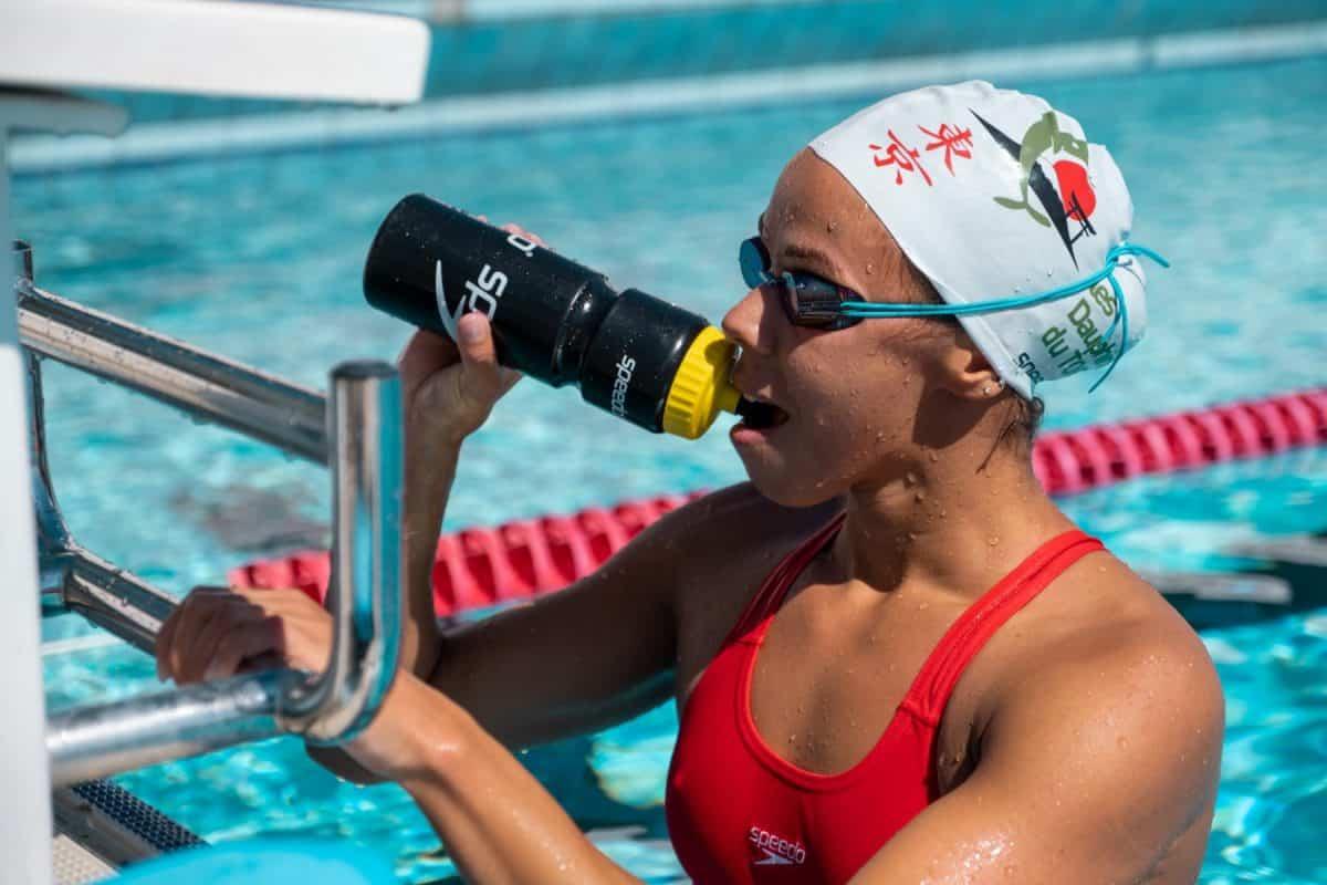 La nageuse toulousaine, Assia Touati, a décroché la médaille de bronze aux championnats d'Europe de natation. ©Les Dauphins du T.O.E.C