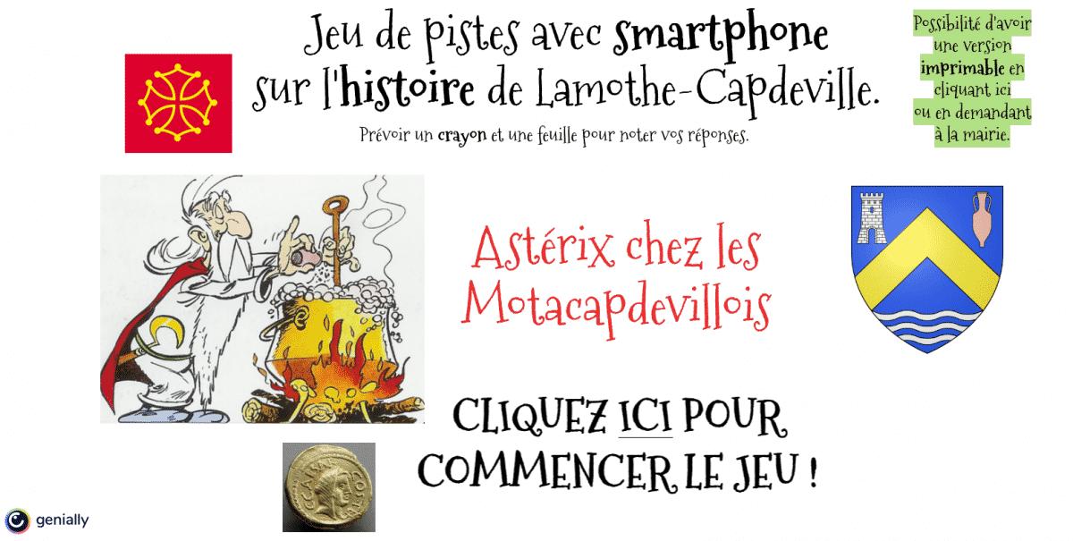Jeu de piste Astérix Lamothe-Capdeville Tarn-et-Garonne