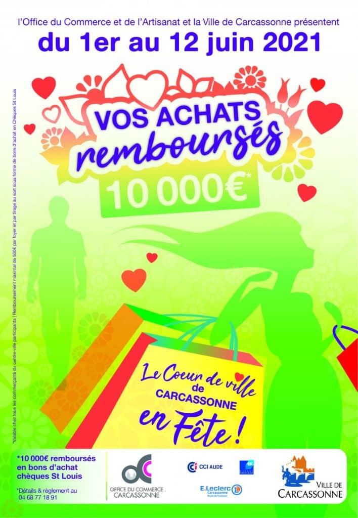 La Ville de Carcassonne, dans l'Aude, lance l'opération bon plan « Vos achats remboursés en centre-ville », du 1er au 12 juin prochain