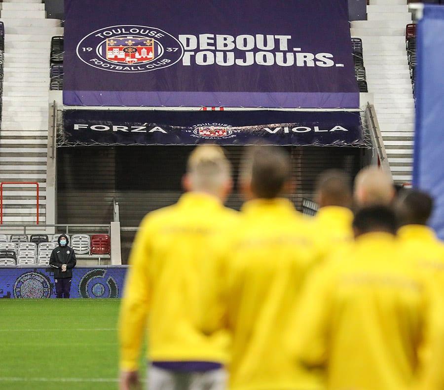 Les joueurs du TFC affronteront ceux du FC Nantes, cette semaine, en matchs de barrage de Ligue 1 et Ligue 2 @ToulouseFC