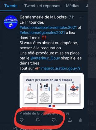 gendarmerie Lozère tweet