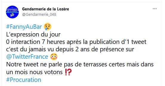 Lozère, le tweet plein d'autodérision de la gendarmerie sur les procurations