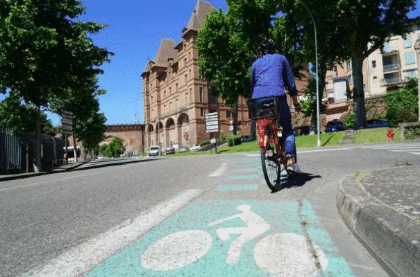 Piste cyclable à Montauban