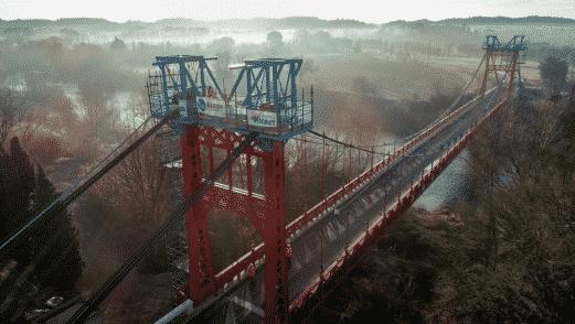 Le pont suspendu de Canet