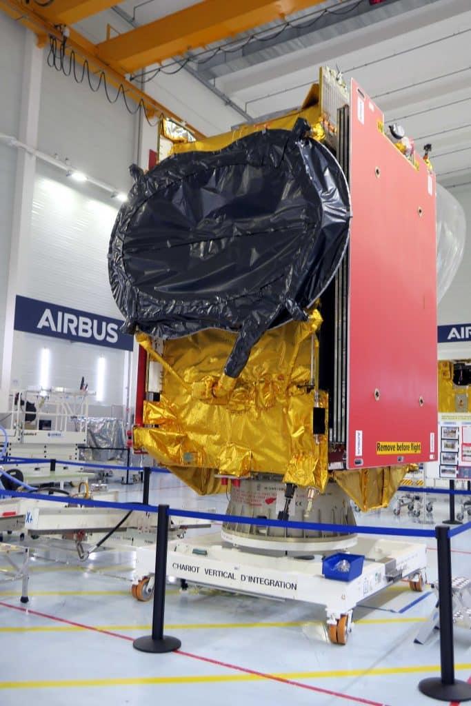 Le satellite Eutelsat Quantum construit par Airbus a été expédié depuis Toulouse vers Kourou, en Guyane, en vue de son lancement fin juillet @Airbus