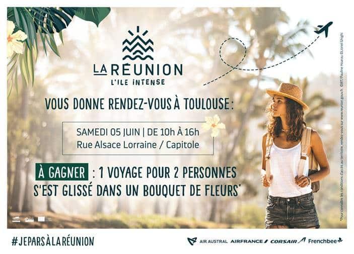 L'office du tourisme de La Réunion lance une opération inédite pour faire gagner un voyage pour « l'île intense », ce 5 juin, à Toulouse