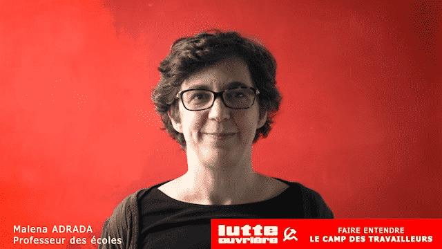 Malena Adrada, tête de la liste Lutte ouvrière– Faire entendre le camp des travailleurs aux élections régionales en Occitanie
