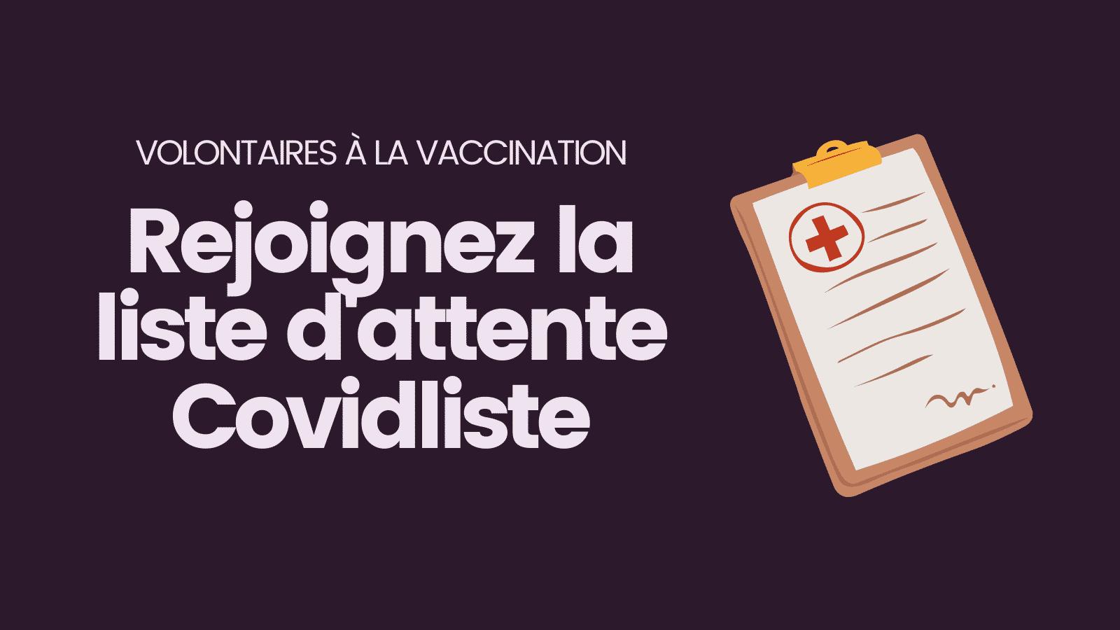 Covidliste Covid vaccination