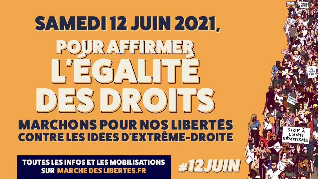 """La """"marche pour nos libertés"""" partira de la place Arnaud-Bernard de Toulouse, ce samedi 12 juin, à 14 heures"""