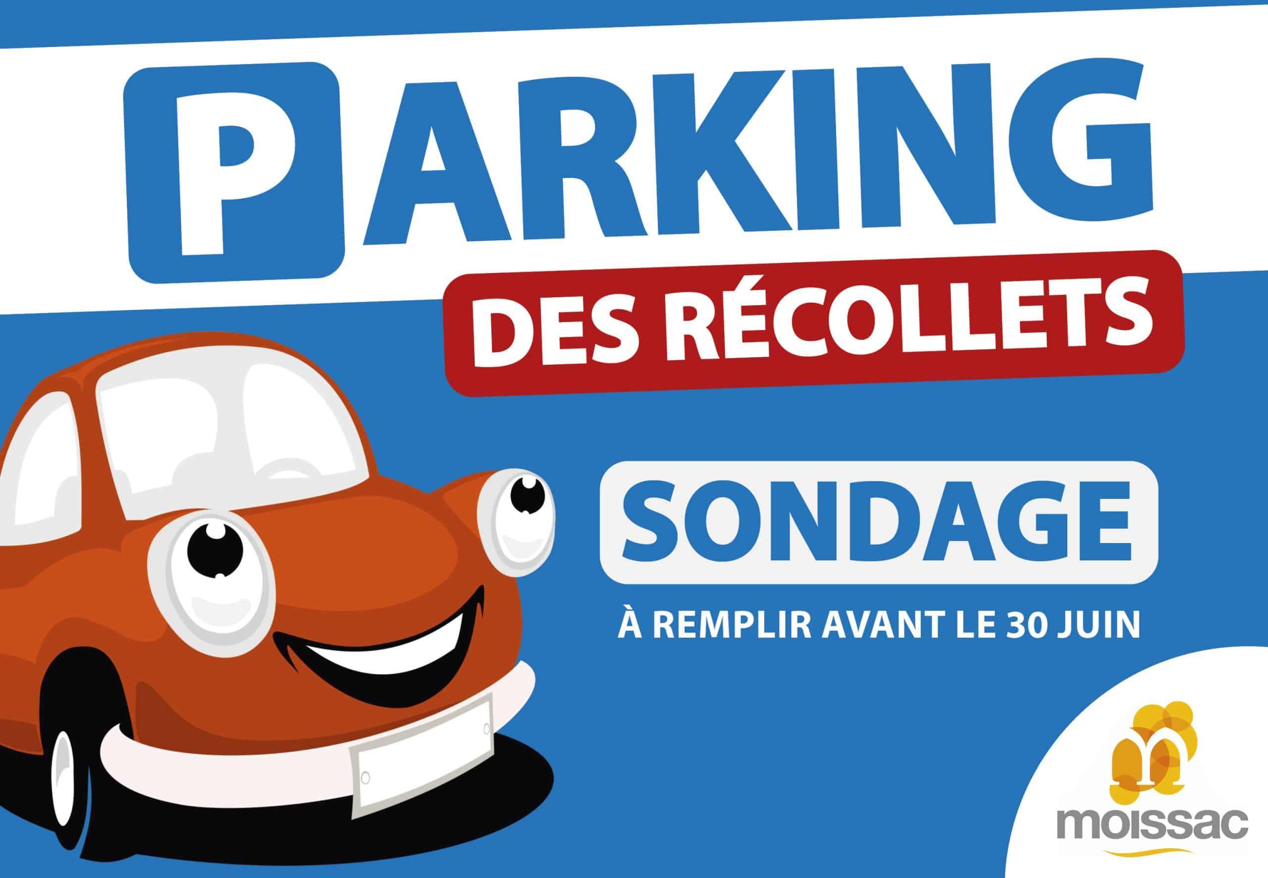 La mairie de Moissac lance une consultation pour son parking gratuit place des Récollets. ©Mairie de Moissac