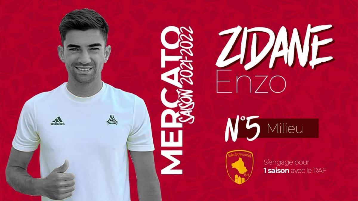 ENzo Zidane s'engage pour la saison prochaine avec le Rodez Aveyron Football.