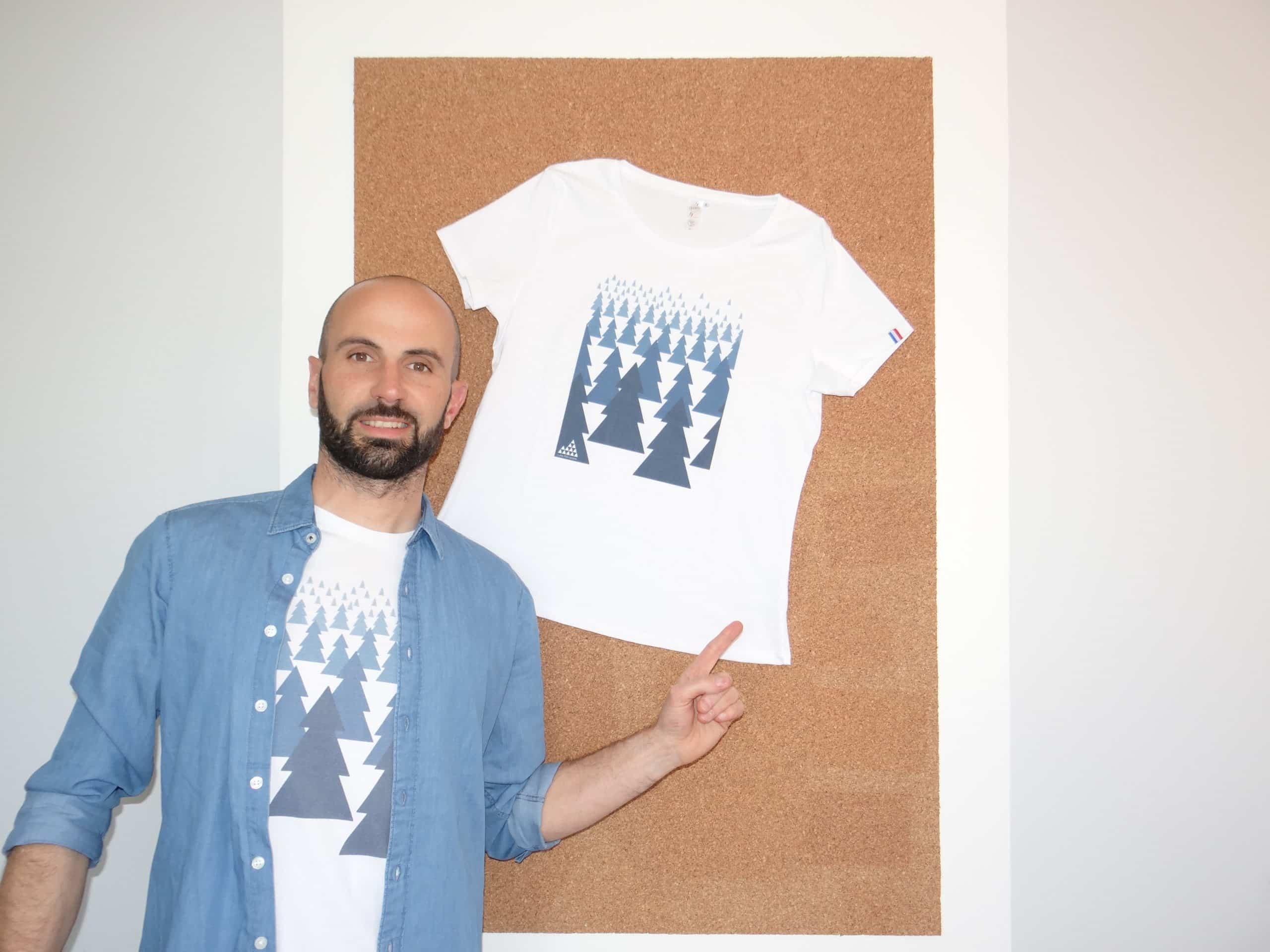 Yoann Corbière et son tee-shirt en coton biologique. ©LesPériades