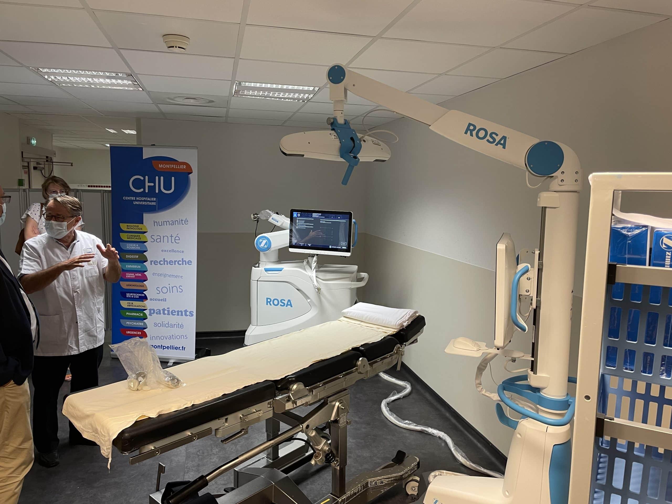 Le robot Rosa Knee au CHU de Montpellier.