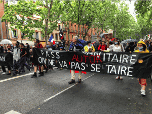 """La préfecture de la Haute-Garonne a une nouvelle fois décédé d'interdire """"l'accès à l'hypercentre de Toulouse à tout rassemblement revendicatif non déclaré le samedi 18 septembre"""". @ Léo Molinié"""
