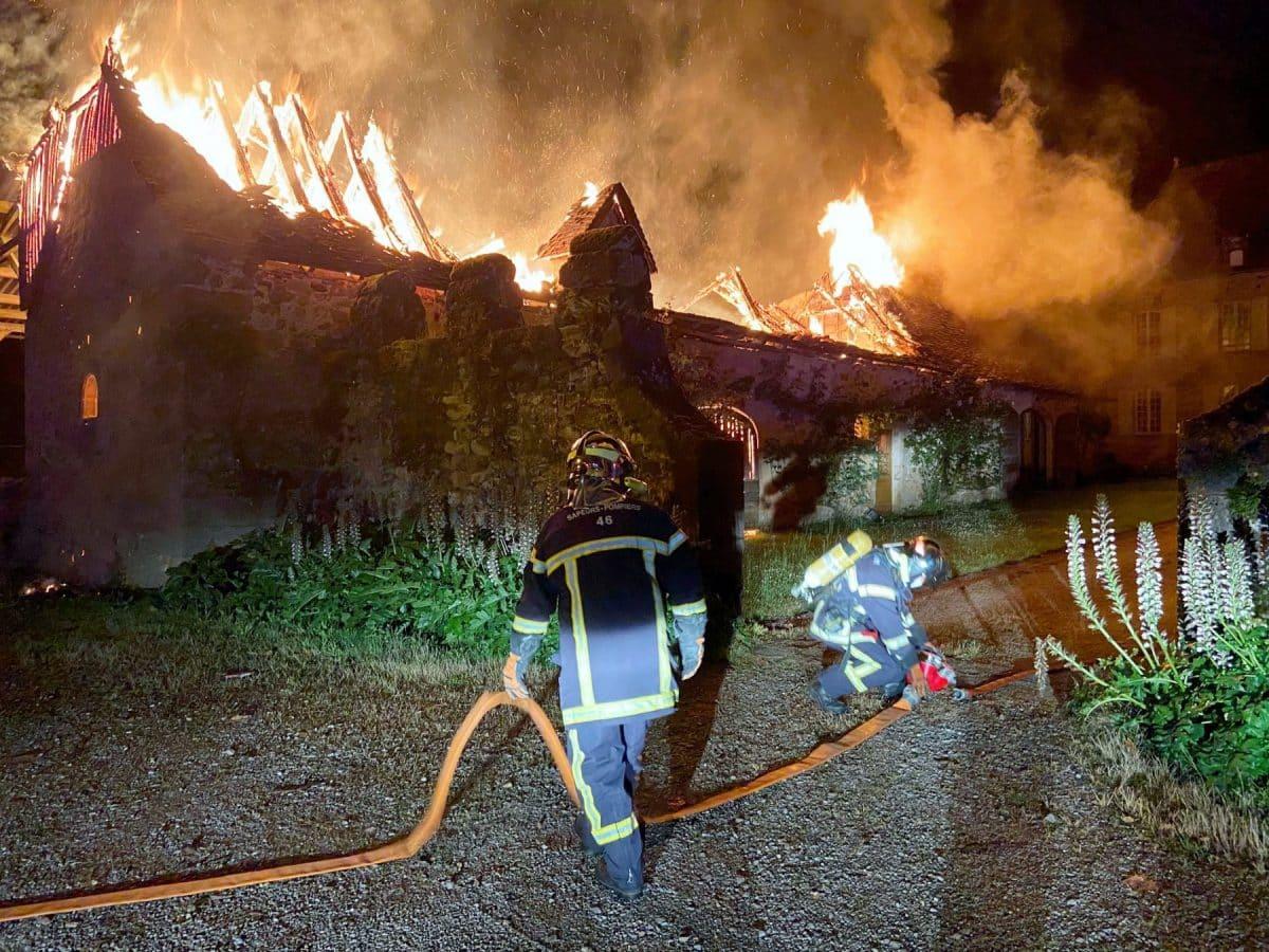 pompiers Lot château Rauze